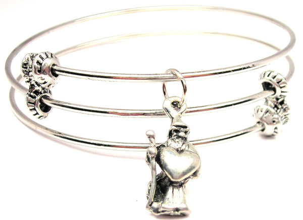 Wizard Of Love Triple Style Expandable Bangle Bracelet