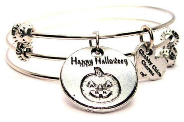 Halloween bracelet, Halloween jewelry, holiday bracelet, holiday jewelry, ghost bracelet, ghost jewelry
