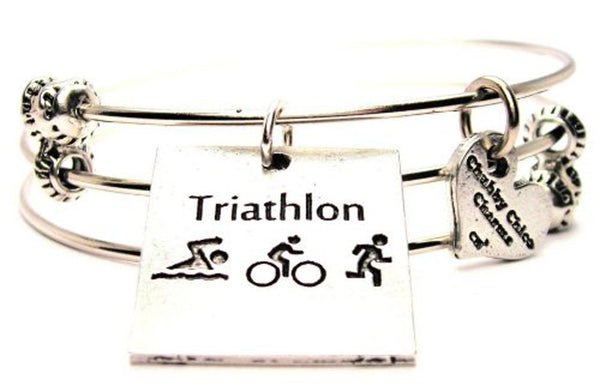 triathlon runner bracelet, triathlon bracelet, health and fitness jewelry, fitness jewelry