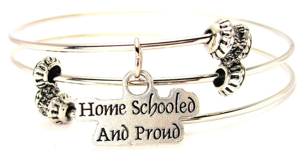 Home Schooled And Proud s Triple Style Expandable Bangle Bracelet