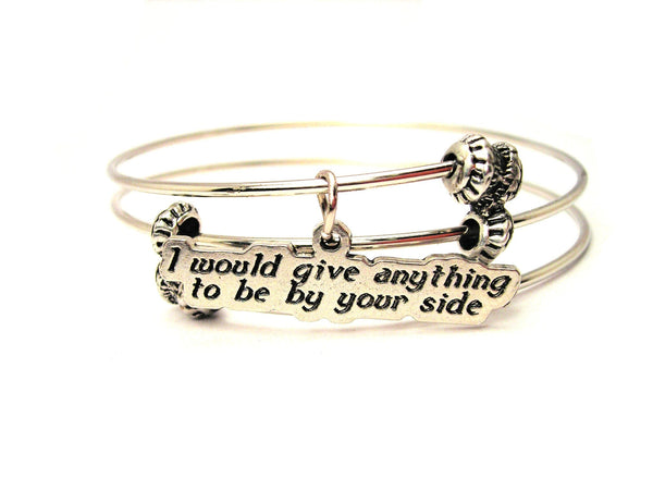 I Would Do Anything To Be By Your Side Triple Style Expandable Bangle Bracelet