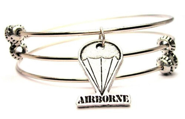 Airborne Parachute Triple Style Expandable Bangle Bracelet