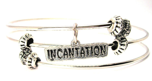 Incantation Triple Style Expandable Bangle Bracelet