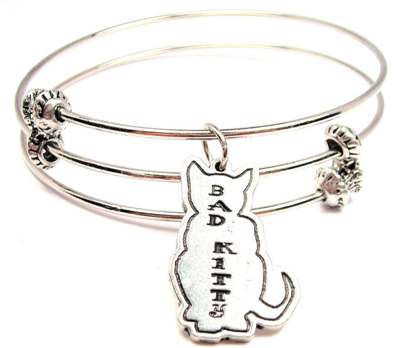 Bad Kitty Triple Style Expandable Bangle Bracelet