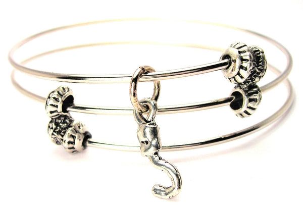 Pirate Hook Triple Style Expandable Bangle Bracelet