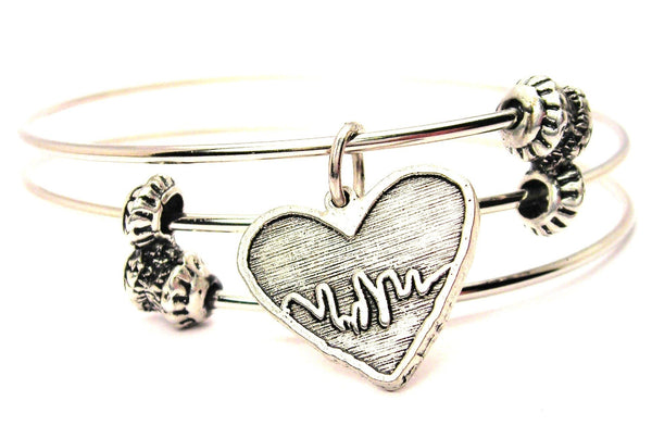 cardiac bracelet, heart bracelet, emt bracelet, medical awareness jewelry, medical disorder jewelry