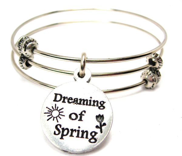 Dreaming Of Spring Triple Style Expandable Bangle Bracelet