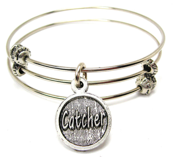 Catcher Triple Style Expandable Bangle Bracelet