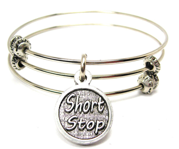 Short Stop Triple Style Expandable Bangle Bracelet