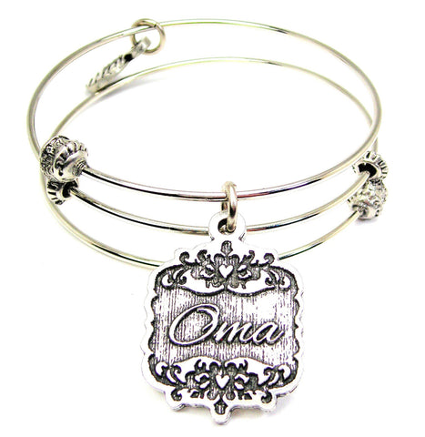 Oma Victorian Scroll Triple Style Expandable Bangle Bracelet