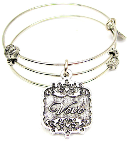 Vovo Victorian Scroll Triple Style Expandable Bangle Bracelet