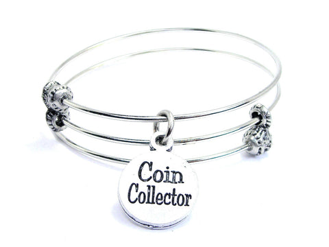 Coin Collector Triple Style Expandable Bangle Bracelet