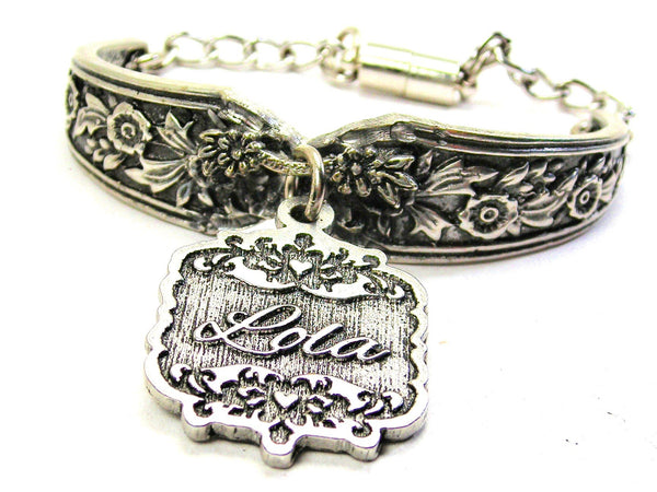 Lola Victorian Scroll Vintage Spoon Chain Bracelet