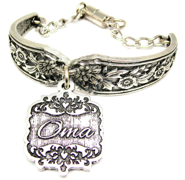 Oma Victorian Scroll Vintage Spoon Chain Bracelet