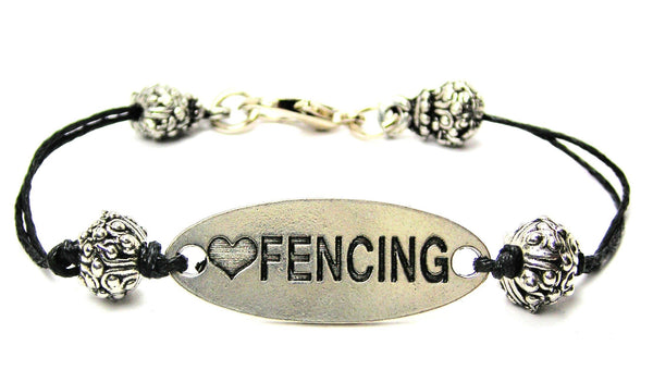 swords, fence, sword fighting, cord bracelet, charm bracelet,