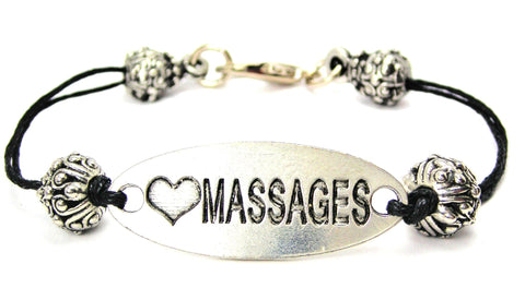 massaging, spa, spa day spa gift idea, cord bracelet, charm bracelet,