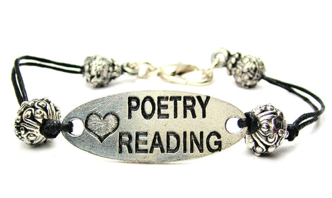 poets, poems, poem quotes, cord bracelet, charm bracelet,