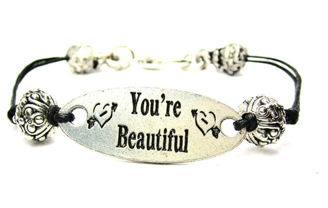 beauty, gift for daughter, gift for girlfriend, gift for mother, cord bracelet, charm bracelet,