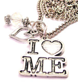 I Love Me Necklace with Small Heart