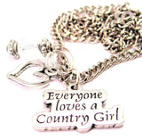 Everyone Loves A Country Girl Necklace with Small Heart