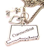 Connecticut Necklace with Small Heart