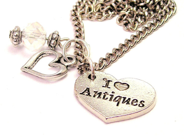 I Heart Antiques Necklace with Small Heart