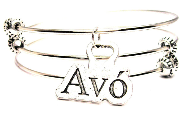 Avó Portuguese Grandmother Triple Style Expandable Bangle Bracelet