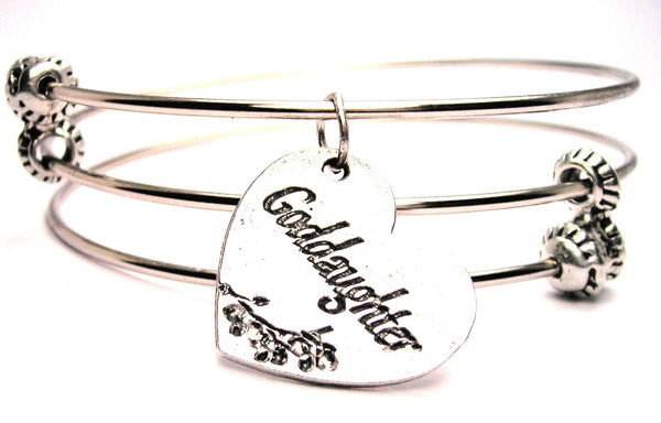 Goddaughter Triple Style Expandable Bangle Bracelet