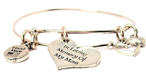 In Loving Memory Of My Mom Expandable Bangle Bracelet