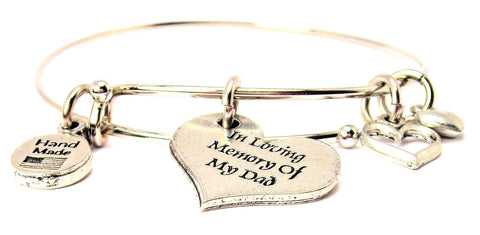In Loving Memory Of My Dad Expandable Bangle Bracelet