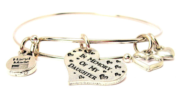 In Memory Of My Daughter Expandable Bangle Bracelet