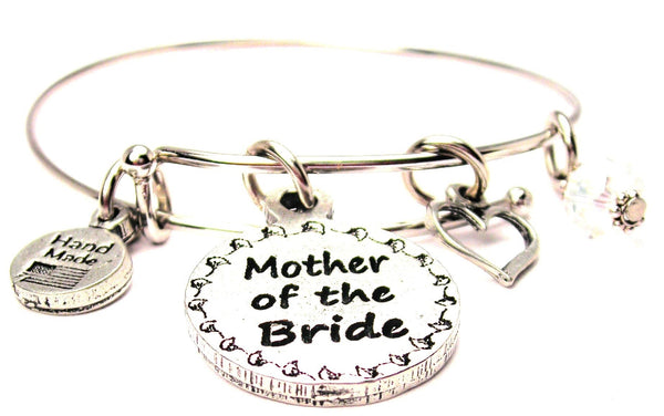 Mother Of The Bride Circle Expandable Bangle Bracelet