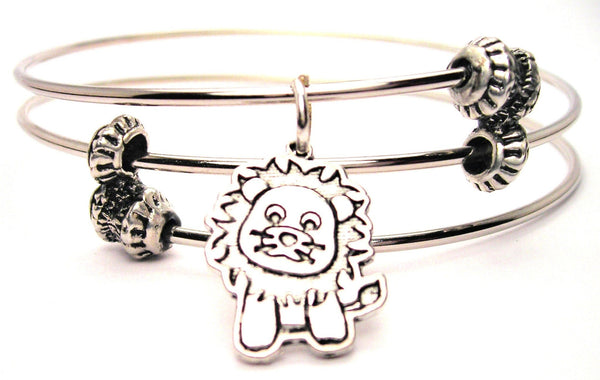 Baby Lion Triple Style Expandable Bangle Bracelet