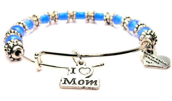 I love mom bracelet, mom bracelet, mom jewelry, mom bangles, I love my mom jewelry, I love my mom jewelry