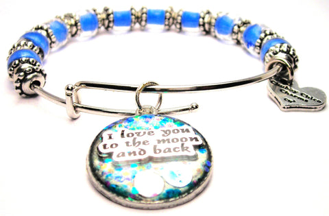 I love you to the moon and back bracelet, I love you to the moon and back jewelry, love bracelet, love jewelry