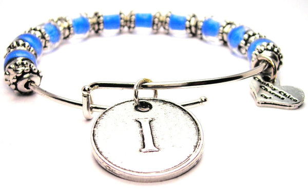 letter I bracelet, letter I jewelry, initial bracelet, initial jewelry, initial bangles, letter initial jewelry