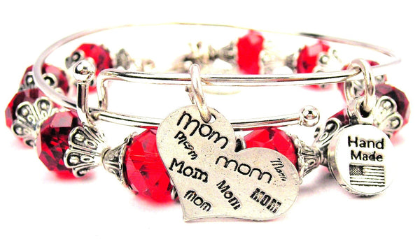 Mom In Many Fonts Heart 2 Piece Collection