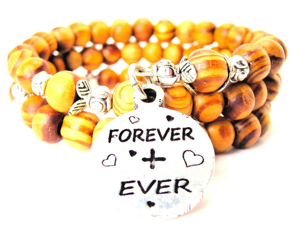 Forever + Ever Natural Wood Wrap Bracelet