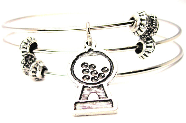 Gumball Machine Triple Style Expandable Bangle Bracelet
