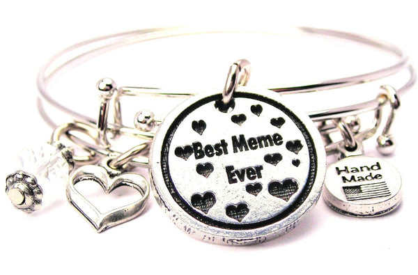 meme bracelet, meme bangles, meme jewelry, grandmother bracelet, French language bracelet