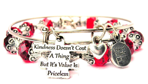 Kindness Doesn't Cost A Thing But Its Value Is Priceless 2 Piece Collection