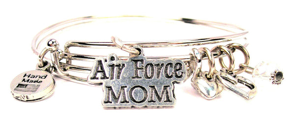 air force mom bracelet, air force mom bangles, air force jewelry, military bracelet