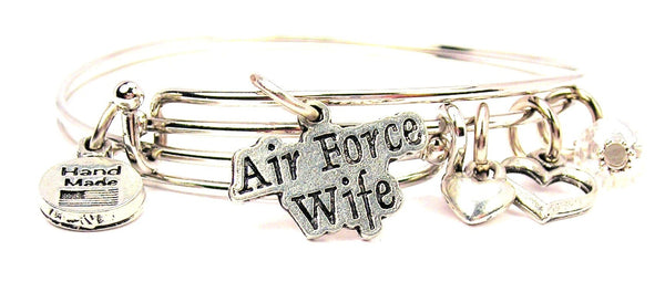 air force wife bracelet, air force wife bangles, air force jewelry, military bracelet