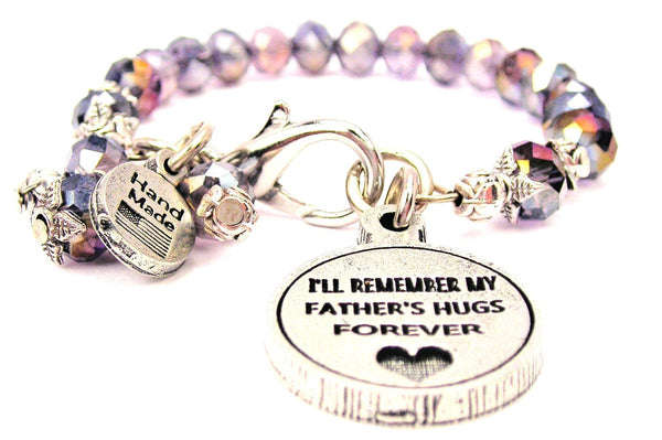 Ill Remember For Fathers Hugs Forever Splash Of Color Crystal Bracelet