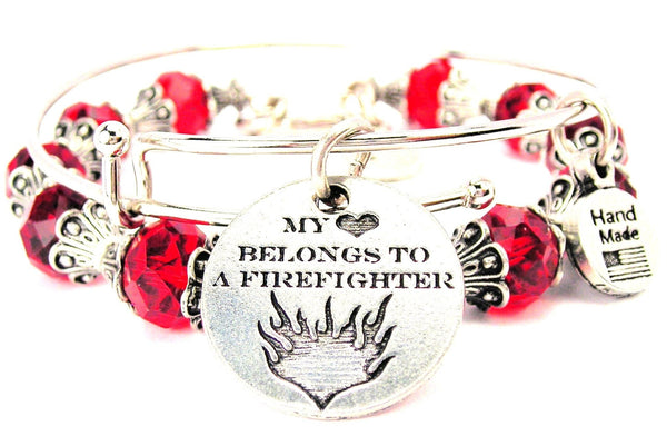My Heart Belongs To A Firefighter Circle 2 Piece Collection