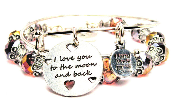 I Love You To The Moon And Back With Hearts 2 Piece Collection