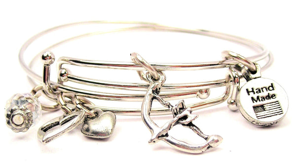 bow and arrow bracelet, bow and arrow bracelet, archery bracelet, archery bangle