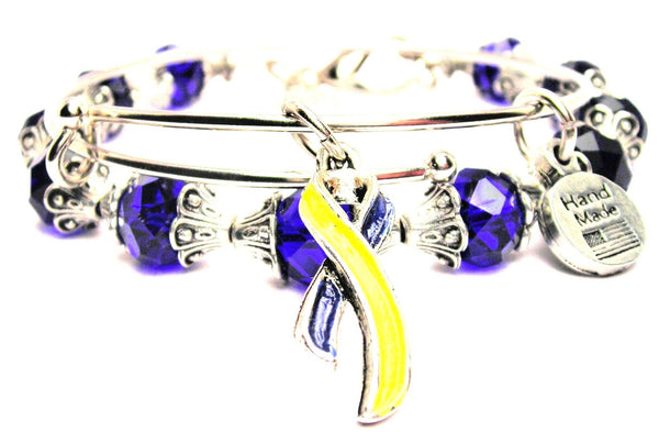 Hand Painted Down Syndrome Awareness Ribbon 2 Piece Collection