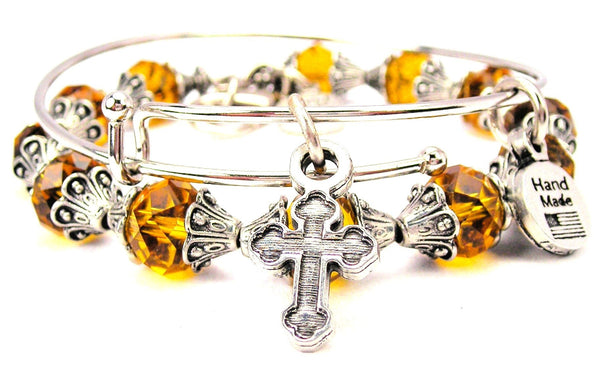 Engraved Catholic Cross 2 Piece Collection