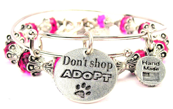Don't Shop Adopt With Paw Print 2 Piece Collection